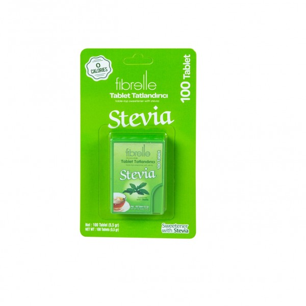 Fibrelle Stevialı Tablet Tatlandırıcı  ( 100 & 300 tablet )