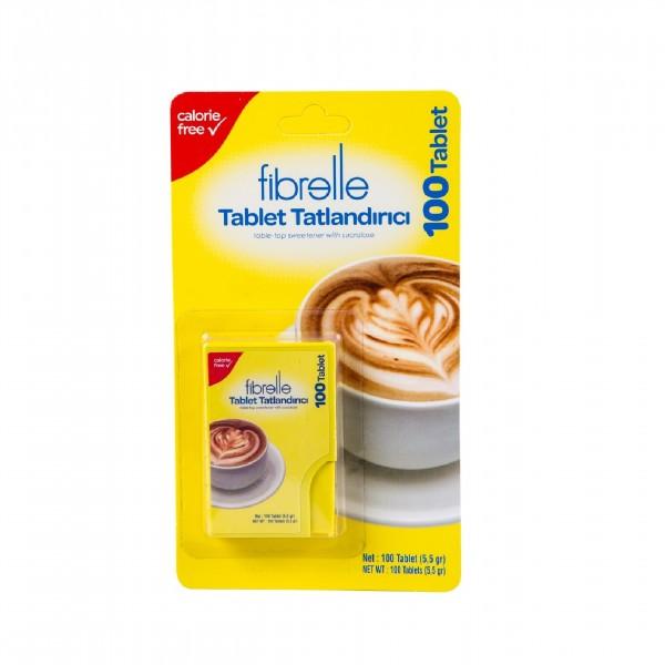 Fibrelle Sukralozlu Tablet Tatlandırıcı  ( 100 & 300 tablet )